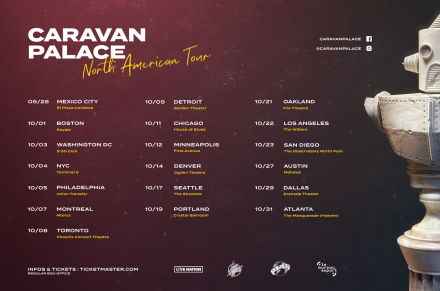 Caravan Palace – On tour in the US in October