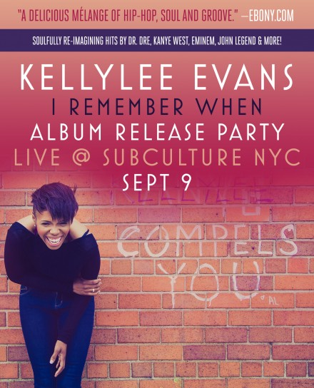Kellylee Evans Album Release Party in NYC on Tuesday