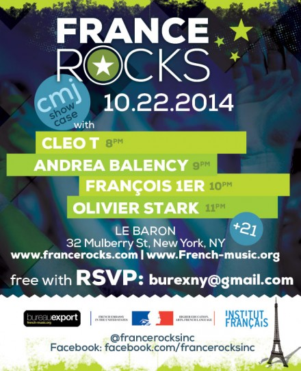 FRANCE ROCKS CMJ MUSIC MARATHON 2014