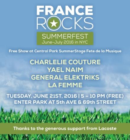 Fete de la Musique 6/21 in Central Park (FREE)