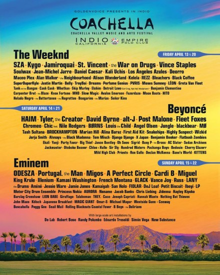 """Artists """"made in France"""" at Coachella 2018"""