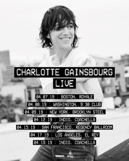 Charlotte Gainsbourg: On tour in the US in April + Tickets Giveaway