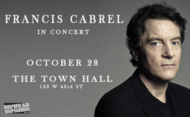 Pre-sale today: Francis Cabrel at The Town Hall on October 28th