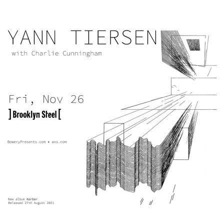 SAVE THE DATE: Yann Tiersen @ Brooklyn Steel, 11/26